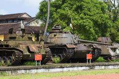 American armoured vehicles of the period of the Vietnam war at the Museum of the city of Hue. Vietnam Royalty Free Stock Image