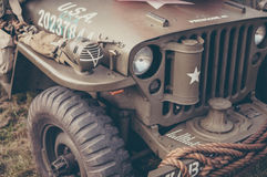 American Army Jeep Royalty Free Stock Photo