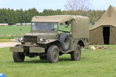 American army world war 2 jeep. American Army WW2 jeep and tent at re-enactment day Royalty Free Stock Photos