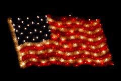 american as christmas flag lights στοκ φωτογραφία με δικαίωμα ελεύθερης χρήσης