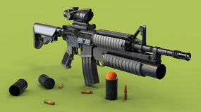 The American assault rifle Colt M4 M4A1 Stock Photography