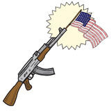 American assault rifle sketch Stock Photos