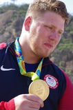 American athlete with the Olympic gold medal Royalty Free Stock Image