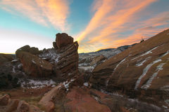 Sunrise at Red Rocks Royalty Free Stock Photos