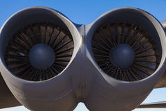 American B-52 bomber jet engines Stock Photography