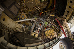 American B-52 bomber jet landing gear Stock Image