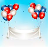 American background with colorful balloons Stock Photos