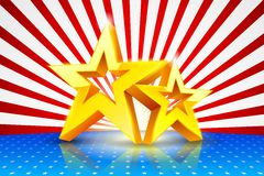 American Background with Golden Stars Stock Images