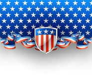 American background. Illustration of american background with shield Royalty Free Stock Images
