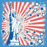 American background with Statue Of Liberty Stock Photo
