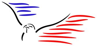 American bald eagle. Brush stroke isolated american bald eagle royalty free illustration
