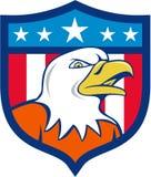 American Bald Eagle Head Angry Flag Crest Cartoon Stock Photos