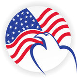 American bald eagle logo Royalty Free Stock Photography