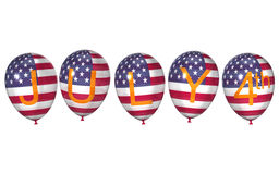 American balloons for the Independence Day Royalty Free Stock Photography