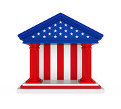 American Bank budynek Odizolowywający Obrazy Stock
