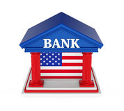 American Bank Building Isolated. On white background. 3D render Stock Photography