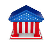 American Bank-Gebäude lokalisiert Stockbilder