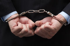 American banker/white-collar crime Stock Image