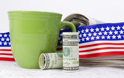 American banking and currency are vital news Royalty Free Stock Photo