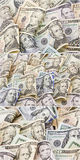 American banknotes cash money folded collage isolated Royalty Free Stock Images
