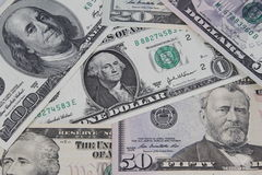 American banknotes Stock Images