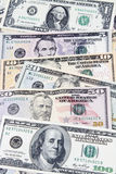 American banknotes. Closeup of assorted American banknotes Royalty Free Stock Image