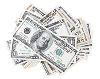 American banknotes. Closeup of assorted American banknotes Stock Image