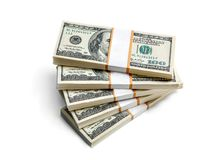 American banknotes of hundred dollar Stock Photo