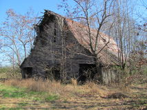 American barn in Tennessee. Americana. Weather worn barn in the Tennessee hills Stock Photo