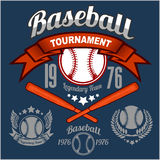 American baseball emblem Stock Photo