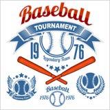 American baseball emblem. And logo on white background Royalty Free Stock Photo