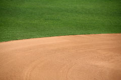 American baseball field. American baseball or softball in-field background Stock Image