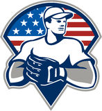 American Baseball Pitcher Gloves Retro Royalty Free Stock Photo