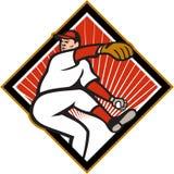 American Baseball Pitcher Throwing Ball Cartoon Royalty Free Stock Image