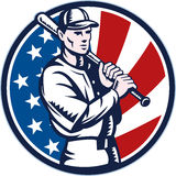 American Baseball player with bat Royalty Free Stock Photography