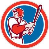 American Baseball Player Batter Hitter Circle Retro Royalty Free Stock Photo