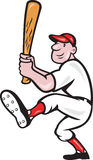 American Baseball Player Batting Cartoon Stock Photo