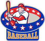American Baseball Player Batting Cartoon Stock Photos