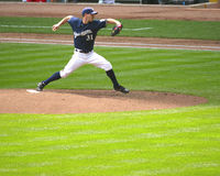 American baseball player pitching Royalty Free Stock Photos