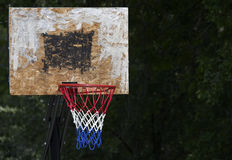 American Basketball. A backboard and hoop depicting basketball as an american sport Stock Photography