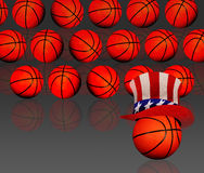 American basketball background Stock Photos