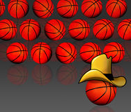 American basketball background Royalty Free Stock Photos