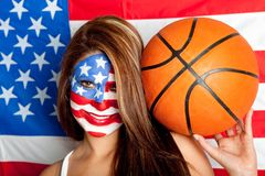 American basketball fan Stock Photos