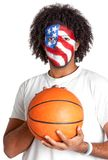 American basketball fan Royalty Free Stock Image