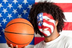 American basketball fan Stock Image