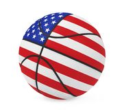 American Basketball Isolated. On white background. 3D render Stock Photography