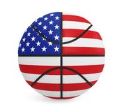 American Basketball Isolated. On white background. 3D render Royalty Free Stock Photos