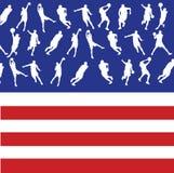 American Basketball Players Stock Photography