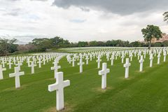 The American Battle Monuments Commission. Manila American Cemetery and Memorial. Landscape royalty free stock image