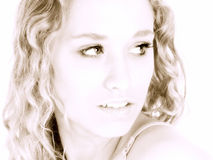 American Beauty in Sepia Royalty Free Stock Images